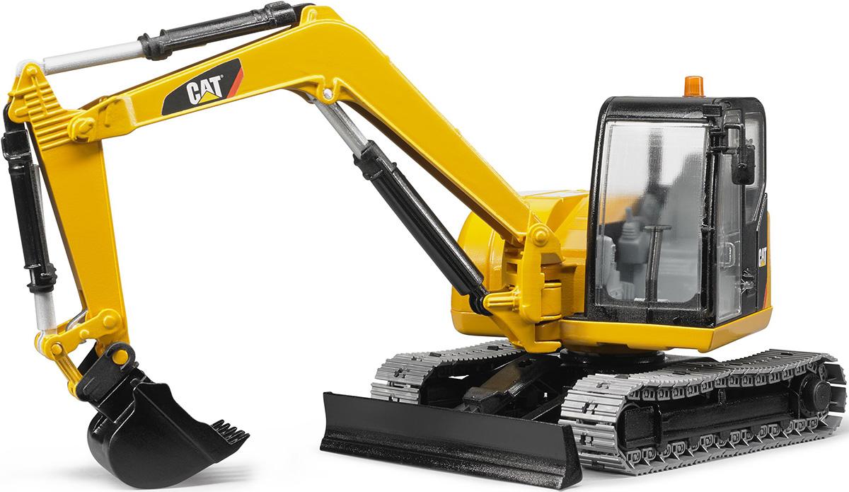 Bruder Экскаватор гусеничный CAT с отвалом машина bruder schaeff hr16 мини экскаватор гусеничный 02 432