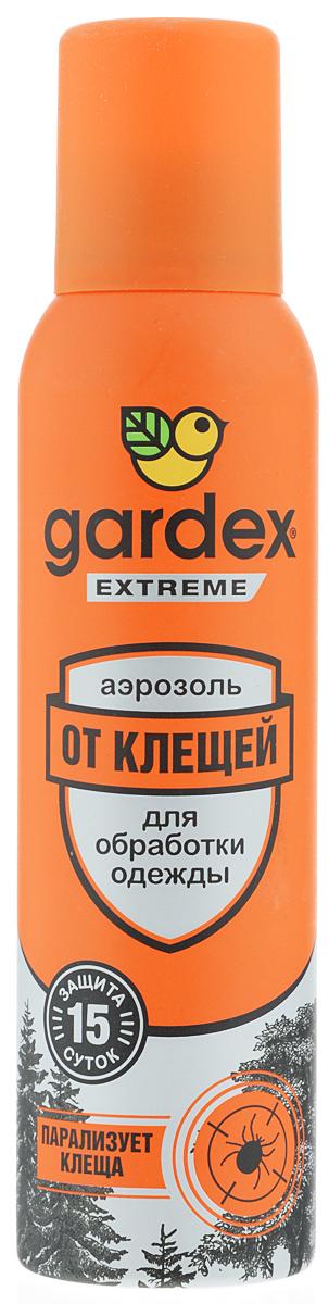 Аэрозоль от клещей Gardex Extreme, 150 мл аэрозоль от комаров и клещей gardex baby на одежду 100 мл