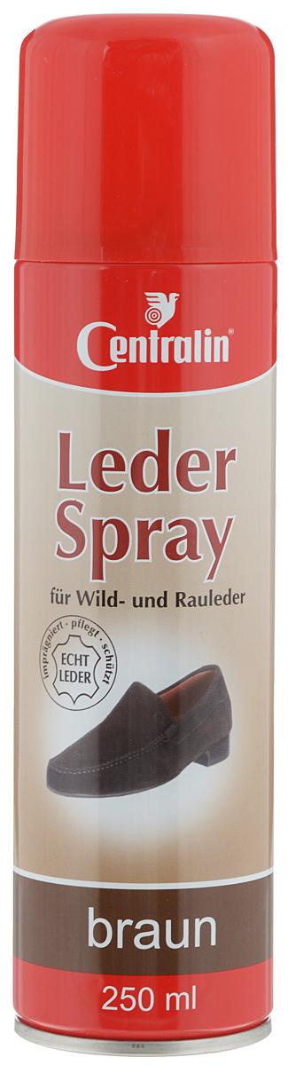 Аэрозоль для пропитки кожи и замши Centralin, цвет: коричневый, 250 мл аэрозоль краситель для замши saphir аэрозоль краситель для замши
