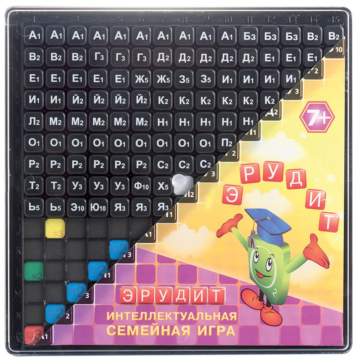 Биплант Настольная игра Эрудит цвет фишек черный настольная игра биплант развивающая эрудит подарочный набор 10008