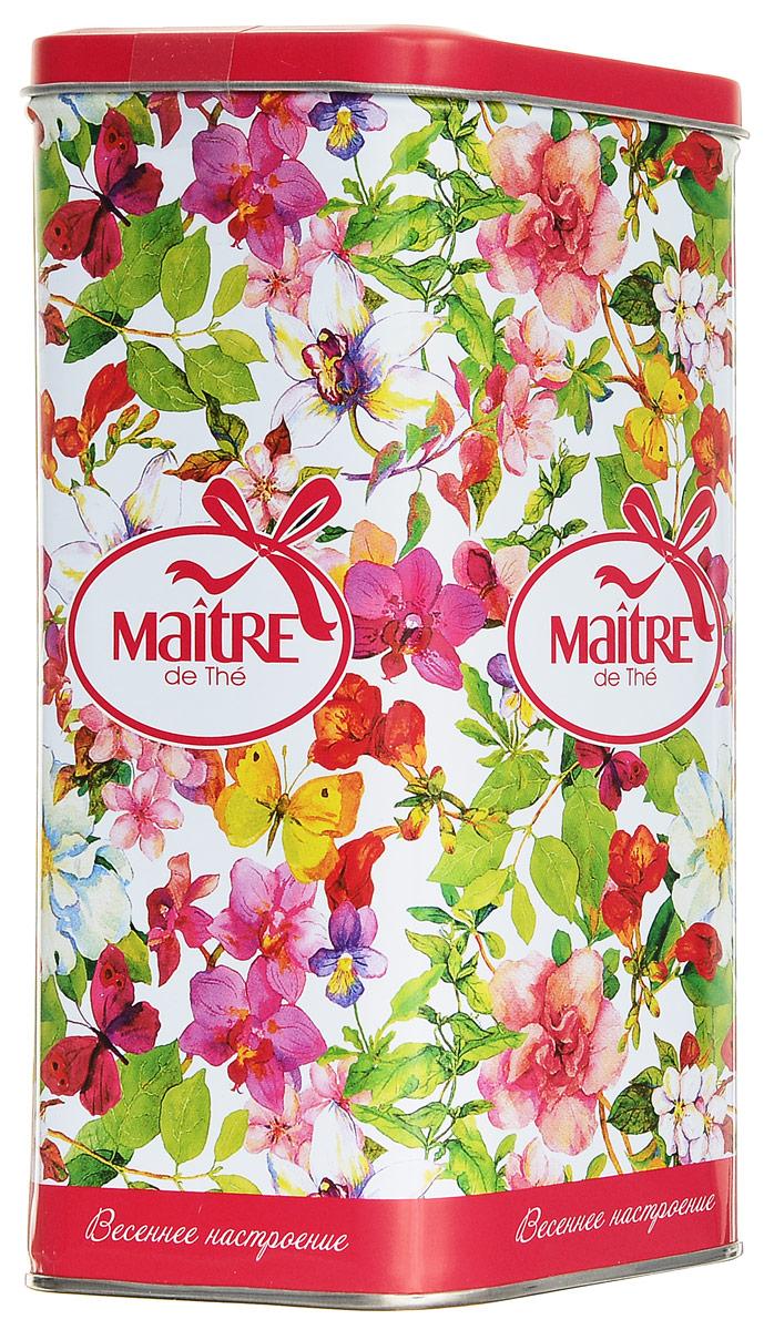 Maitre Весеннее настроение черный листовой чай, 90 г maitre имбирный пряник черный листовой чай 90 г
