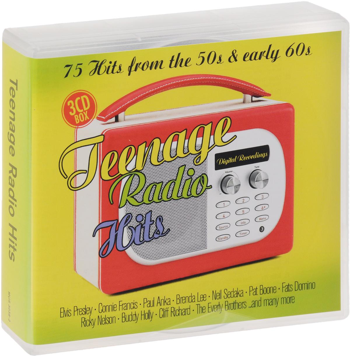 """Рики Нельсон,Конни Фрэнсис,""""The Kalin Twins"""",Нил Седака,Гай Митчелл,Пэт Бун,Элвис Пресли,""""The Everly Brothers"""",""""The Platters"""",Фэтс Домино,Хелен Шапиро,Бадди Холли,Бренда Ли,Пол Анка,""""Dion And The Belmonts"""",Робин Люк,Биг Боппер,""""The Marvelettes"""",""""The Chordettes"""",Бобби Фримен,""""The Mcguire Sisters"""",""""The Teddy Bears"""",Сэнди Нельсон,Брайан Хайлэнд,Бобби Дарин,""""The Teenagers"""",Фрэнки Лимон,Фрэнки Авалон,Чабби Чеккер,Рэй Чарльз,The Zodiacs Teenage Radio Hits (3 CD)"""