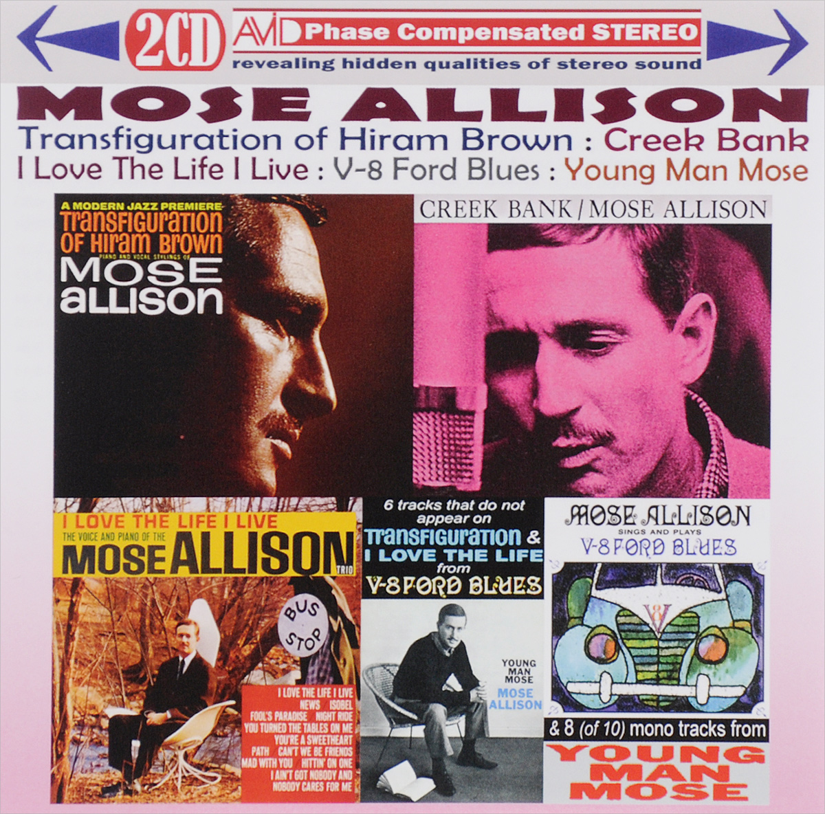 Моуз Эллисон Mose Allison. Transfiguration Of Hiram Brown / Creek Bank / I Love The Life I Live / V-8 Ford Blues / Young Man Mose (2 CD) моуз эллисон mose allison transfiguration of hiram brown creek bank i love the life i live v 8 ford blues young man mose 2 cd