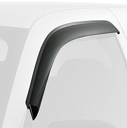 Дефлекторы окон SkyLine Honda Accord 2012- SD (with chrome molding), 4 шт ветровики skyline honda accord 03 07