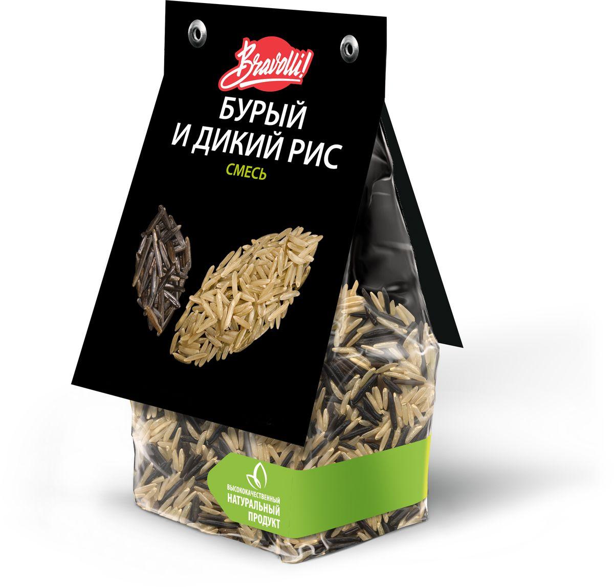 Bravolli Смесь бурый и дикий рис, 350 г цены