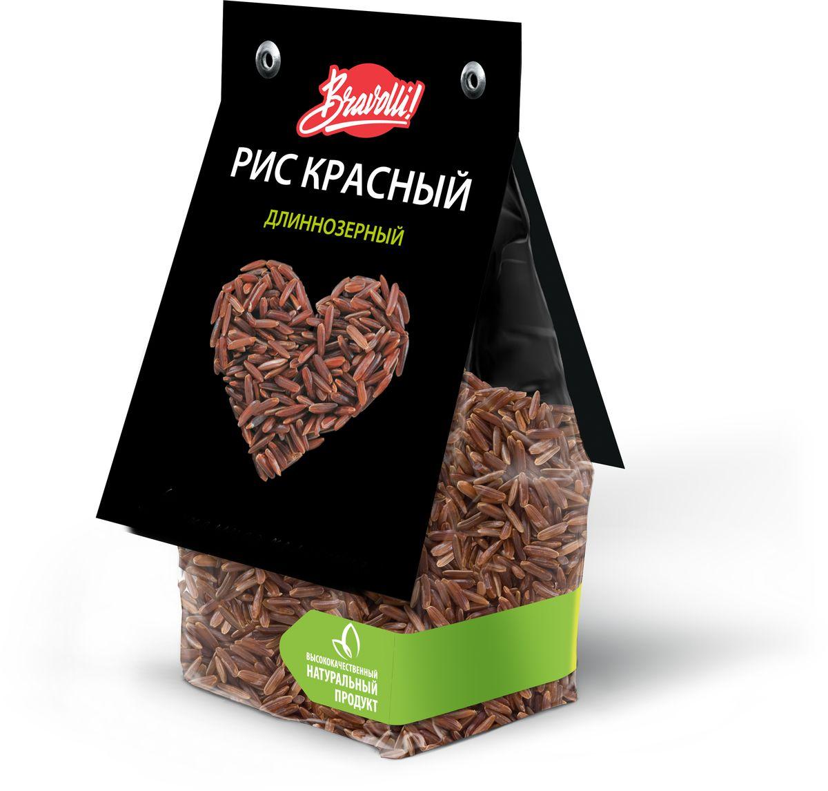 Bravolli Рис красный длиннозерный, 350 г