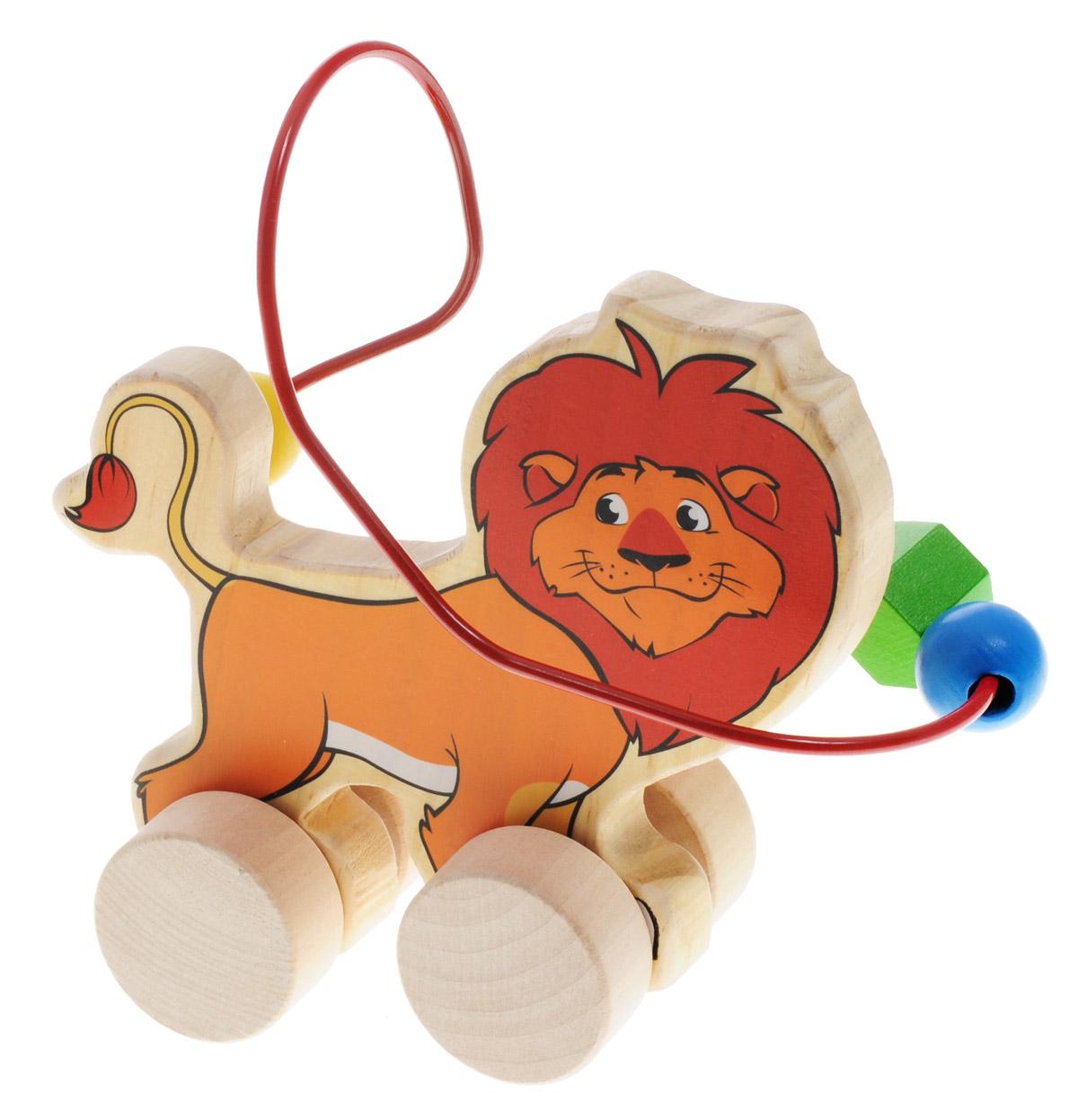 Мир деревянных игрушек Лабиринт-каталка Лев