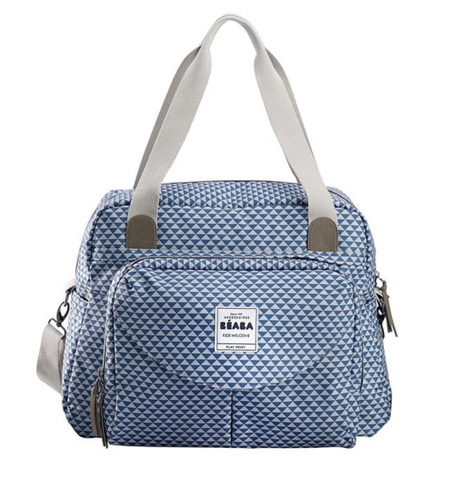 b4d35f8956fa Beaba Сумка для мамы Changing Bag Geneva Ii цвет голубой белый — купить в  интернет-магазине OZON.ru с быстрой доставкой