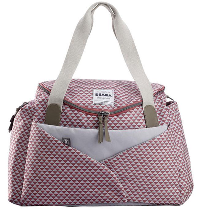 сумки для мамы Beaba Сумка для мамы Changing Bag Sydney Ii цвет розовый белый