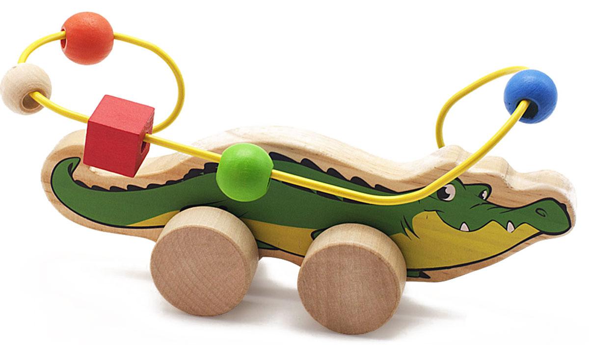 Мир деревянных игрушек Лабиринт-каталка Крокодил недорого
