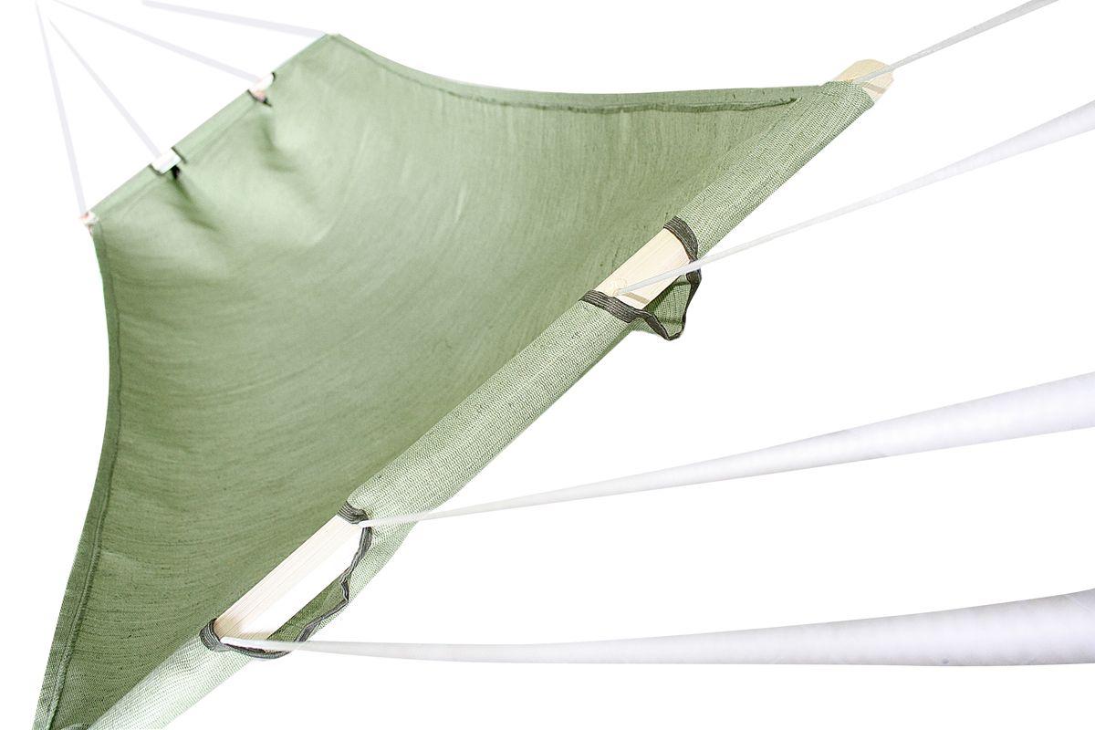 "Гамак брезентовый ""Eva"", цвет: зеленый, 85 х 180 см"