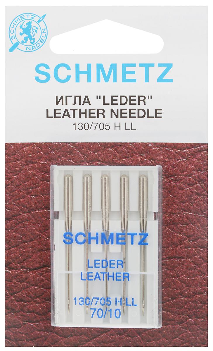 """Набор игл для кожи Schmetz """"Leder"""", №70, 5 шт"""