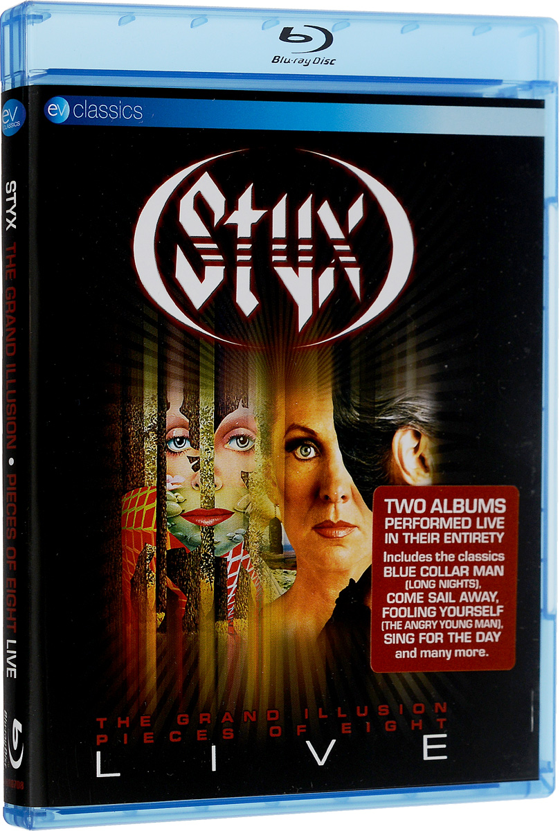 Styx: The Grand Illusion And Pieces Of Eight: Live (Blu-ray) цена