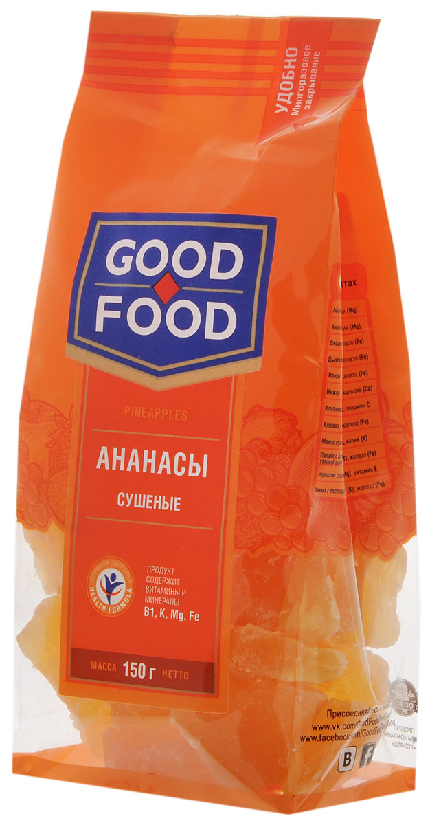 Good Food ананасысушеные,150г