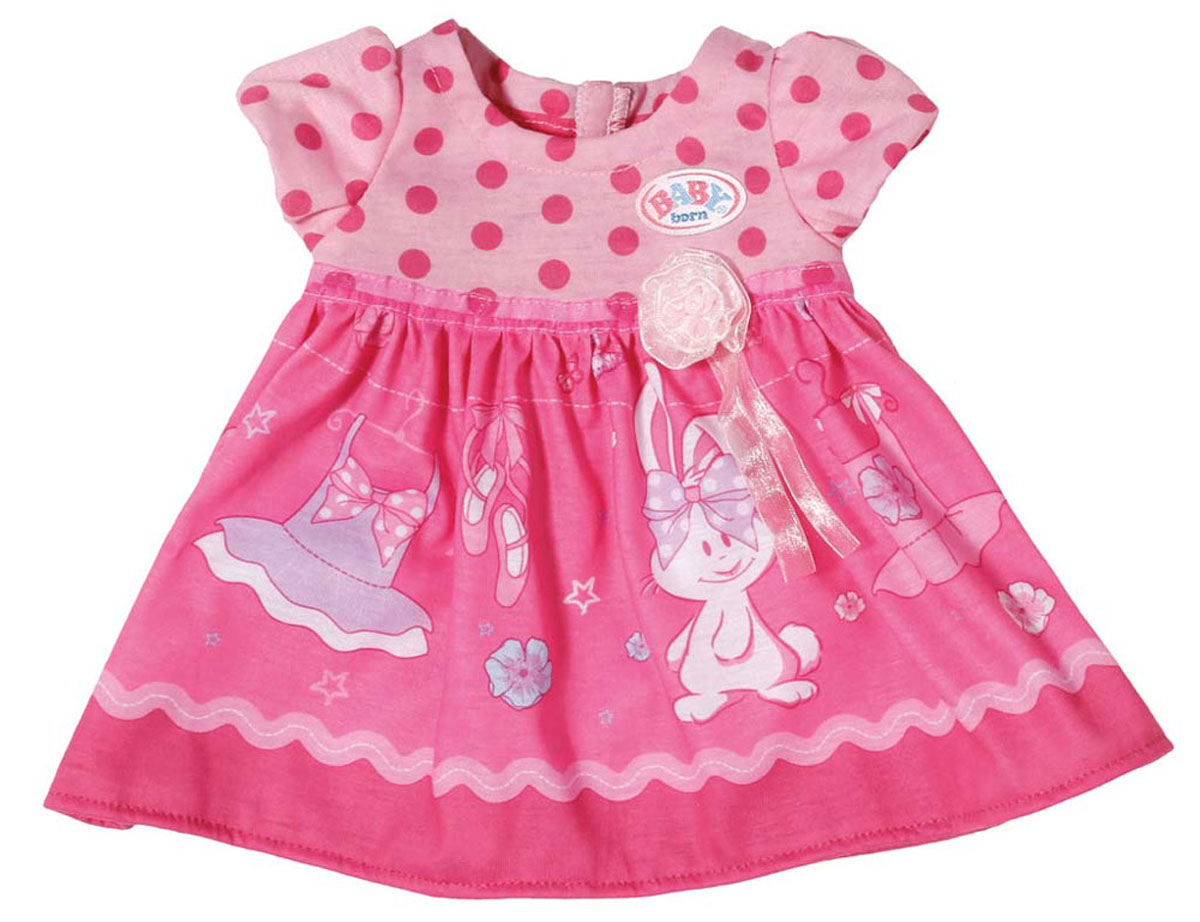 Baby Born Платье для куклы цвет темно-розовый romance was born платье с вышивкой