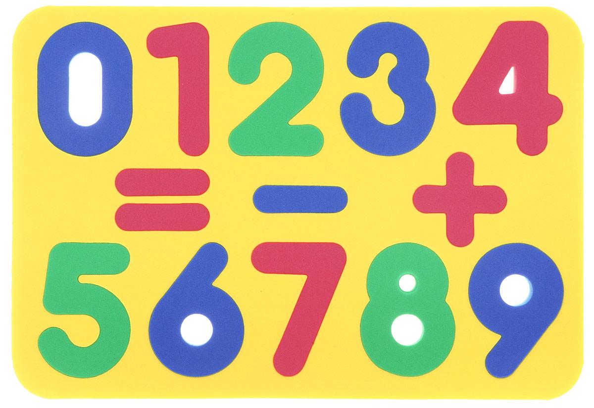 Бомик Пазл для малышей Цифры цвет основы желтый цена
