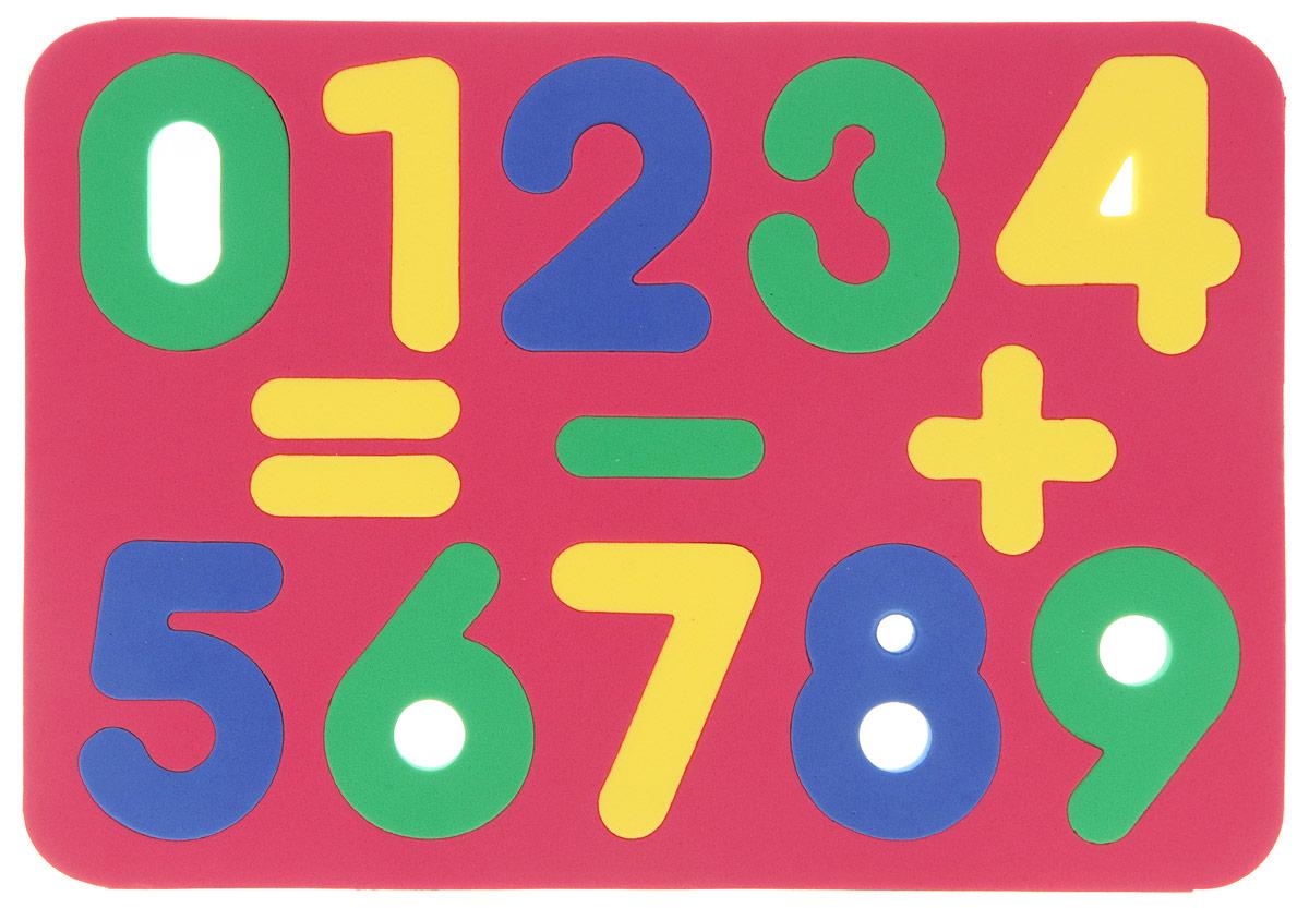 Бомик Пазл для малышей Цифры цвет основы красный фантазер пазл для малышей дом и дерево цвет основы оранжевый