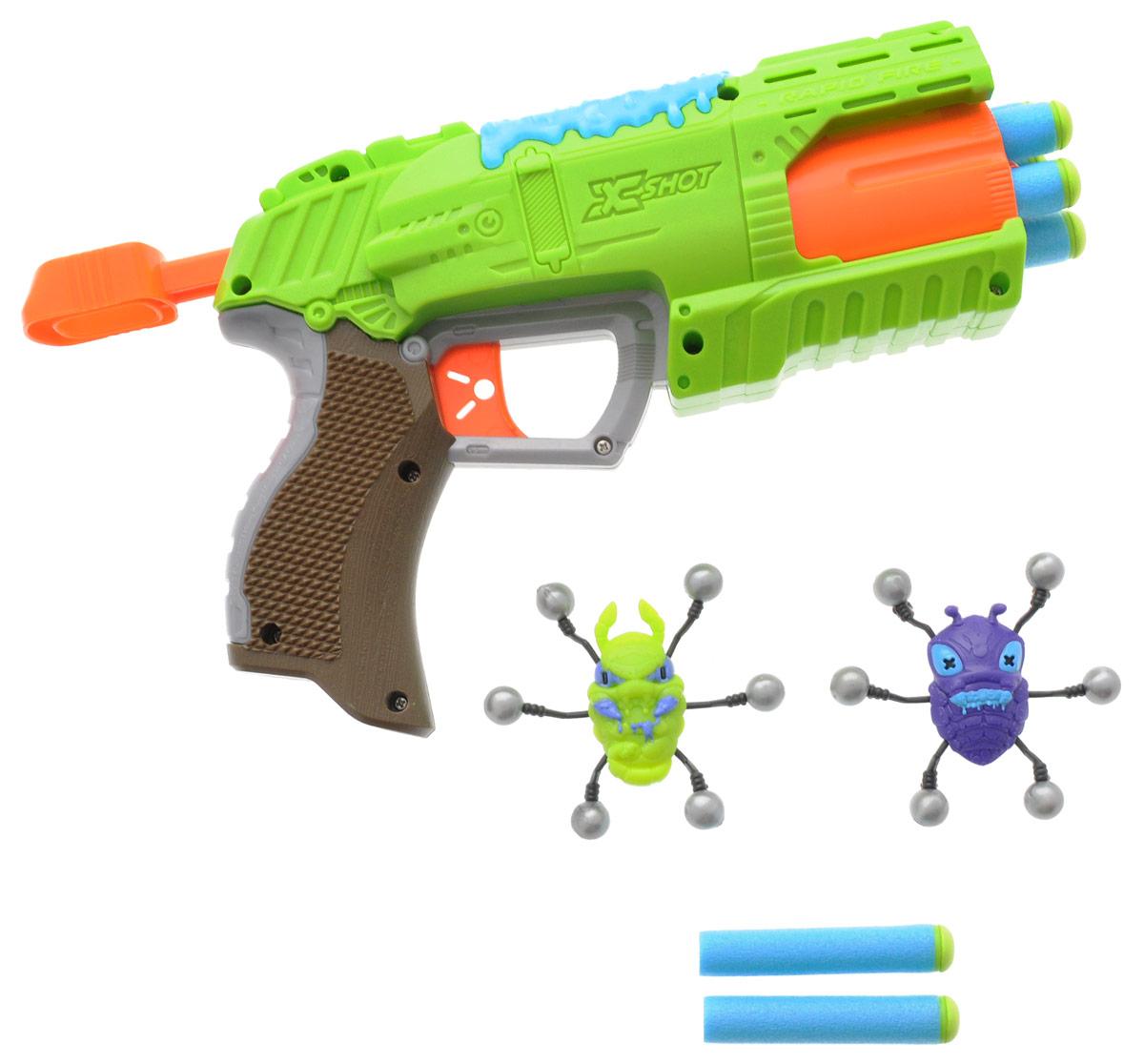 XSHOT Бластер Атака пауков игрушечное оружие zuru x shot ружье с мишенями атака пауков