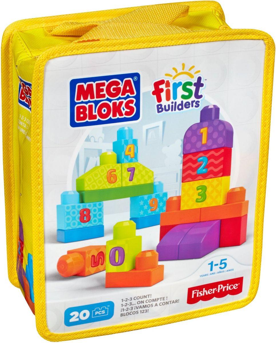Mega Bloks First Builders Конструктор Строй и учись считать mega bloks first builders конструктор маленькие транспортные средства грузовичок