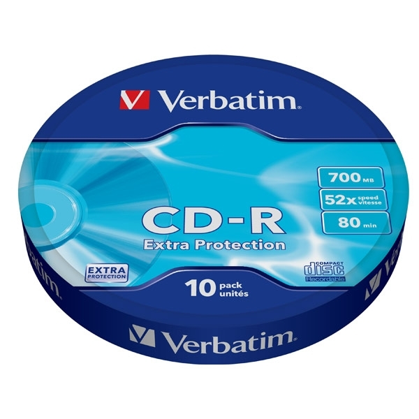 цены на Диск CD-R Verbatim 700Mb 52x extra protect, 10 шт (43725)  в интернет-магазинах