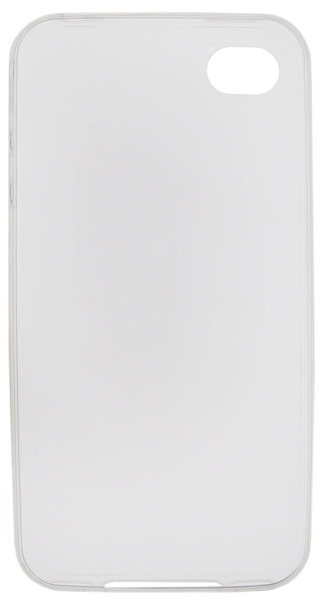 Red Line iBox Crystal чехол для iPhone 4/4S, Clear