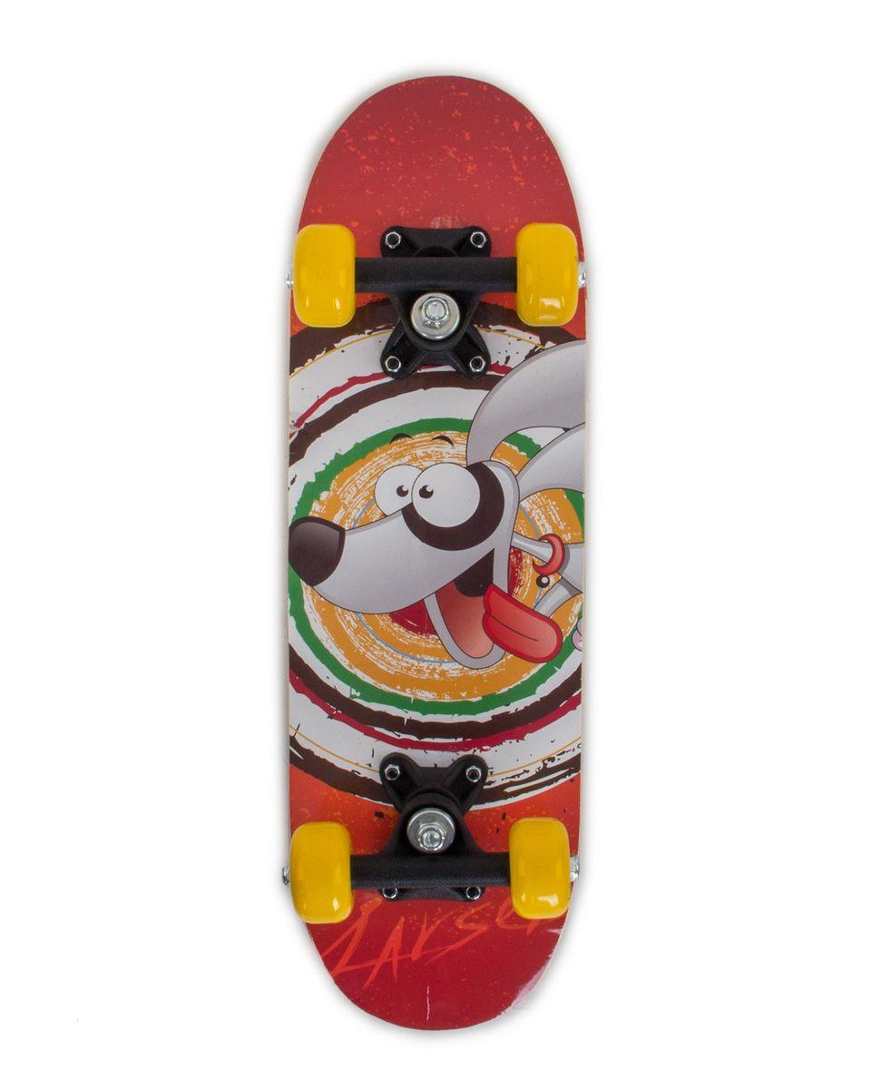 """Скейтборд Larsen """"Kids 2"""", 51 х 15 см, цвет: красный, желтый, черный"""