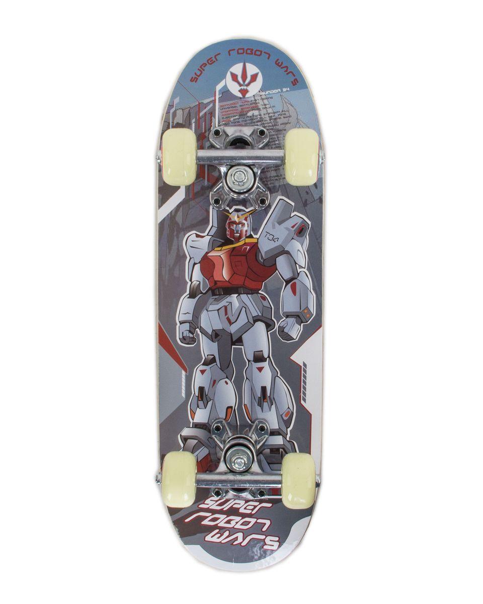 Скейтборд Larsen Junior 1, цвет: серый, голубой, дека 51 х 15 см336050Скейтборд Larsen Junior 1 - прекрасный подарок для вашего ребенка! Материал трака - алюминий, амортизатор - полиуретан, колеса - полиуретан. Конструкция отличается высокой устойчивостью и прочностью. Доска выполнена из китайского клена в 9 слоев. На этой доске легко будет сделать первые шаги в скейтбординге и проехать первые метры. Характеристики: Размер деки: 20 x 6 (51 x 15 см). Материал трака: алюминий. Размер трака: 3,25 (8,25 см). Амортизатор: полиуретан. Материал колес: полиуретан. Размер колес: 50x30 мм. Жесткость колес: 92A. Подшипник: ABEC-1, углеродистая сталь. Рекомендуем!