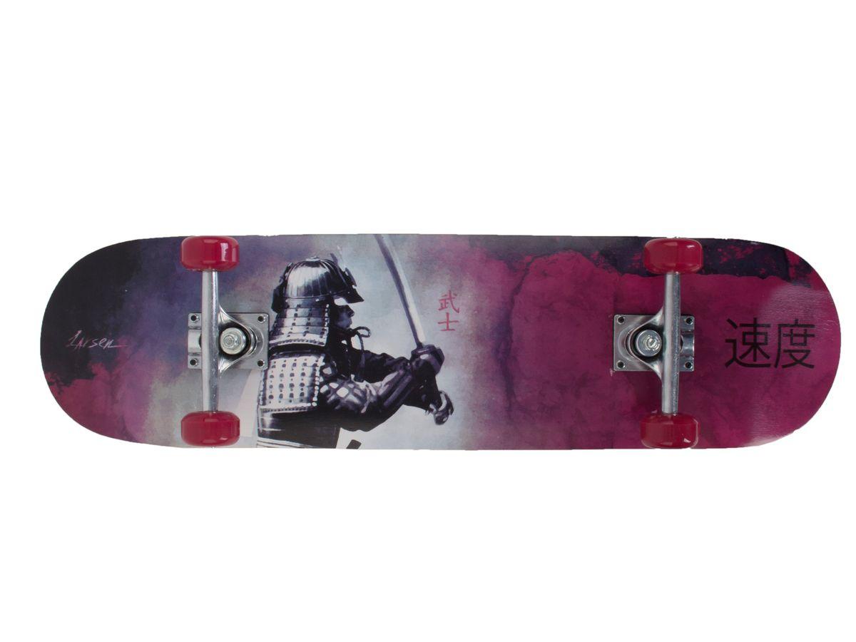 Скейтборд Larsen Street 3, цвет: фиолетовый, черный, дека 79 х 20 см скейтборд larsen street 3