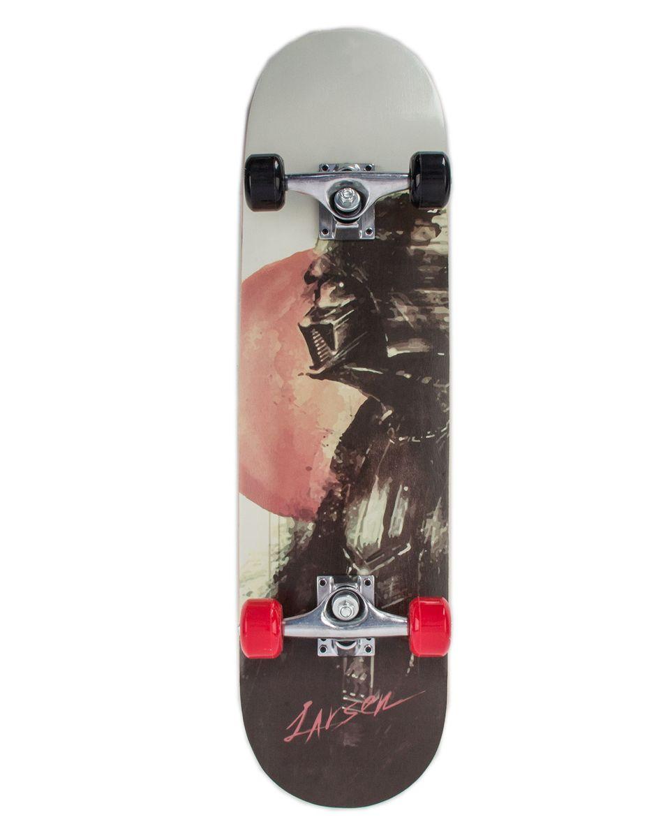 "Скейтборд Larsen ""Park 1"", цвет: черный, серый, дека 79 х 20 см"