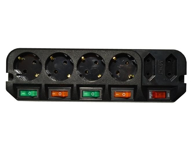 Сетевой фильтр Most ARG (6 розеток), Black сетевой фильтр most arg 6 розеток 1 6 м черный