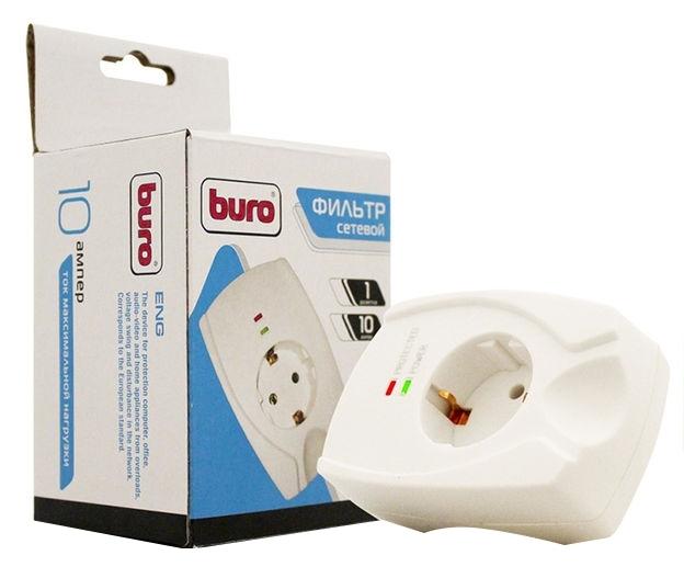 Сетевой фильтр Buro 100SH-W (1 розетка), White buro 100sh plus