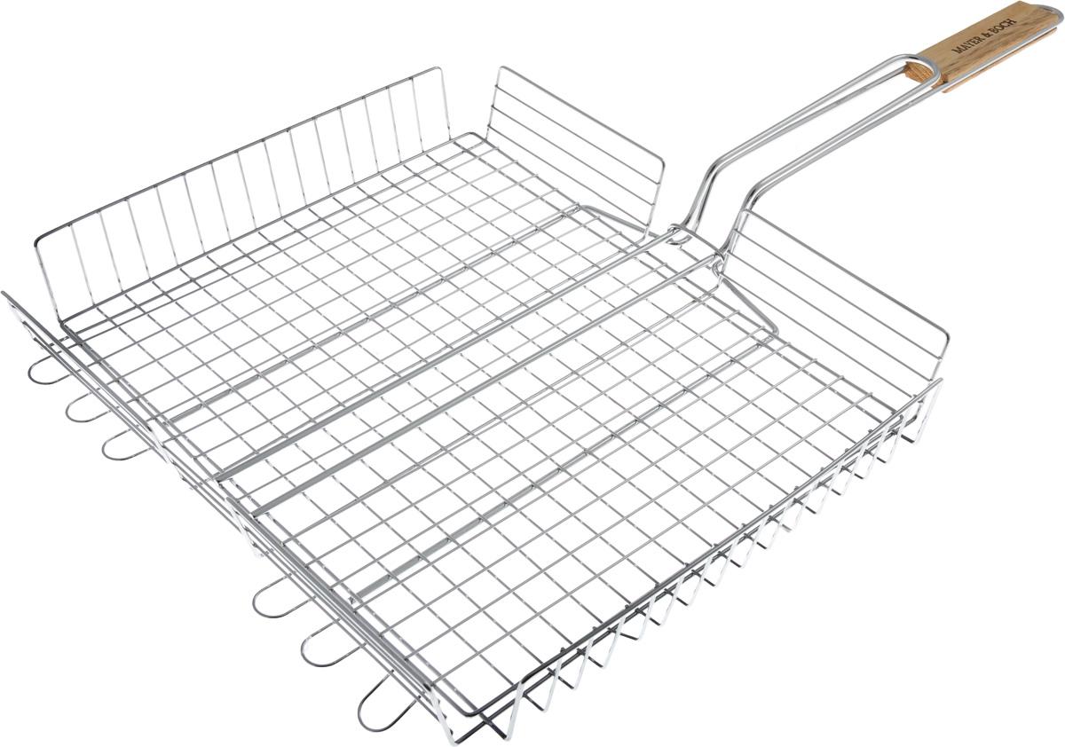 Решетка для гриля Mayer & Boch, 37,5 х 32,5 см решетка для гриля хет трик с антипригарным покрытием зенит
