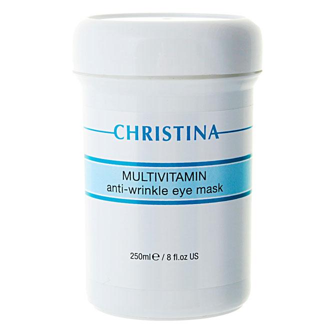 Christina Мультивитаминная маска для зоны вокруг глаз Multivitamin Anti-Wrinkle Eye Mask 250 млM-43Мультивитаминная маска для зоны вокруг глаз Christina Multivitamin Anti-Wrinkle Eye Mask. Витаминизированная (витамины А, В, С, Е, F) регенерирующая маска, обладает уникальным осветляющим свойством (содиум аскорбил фосфат — стабилизированный), увлажняет и защищает кожу, активизирует образование новых клеток. Маска заметно улучшает внешний вид кожи: снимает напряжение, выравнивает и смягчает, устраняя признаки усталости.