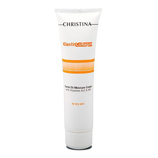Christina Увлажняющий крем с морковным маслом, коллагеном и эластином Elastin Collagen Carrot Oil Moisture Cream with Vit A, E and HA 100 мл christina collagen elastin