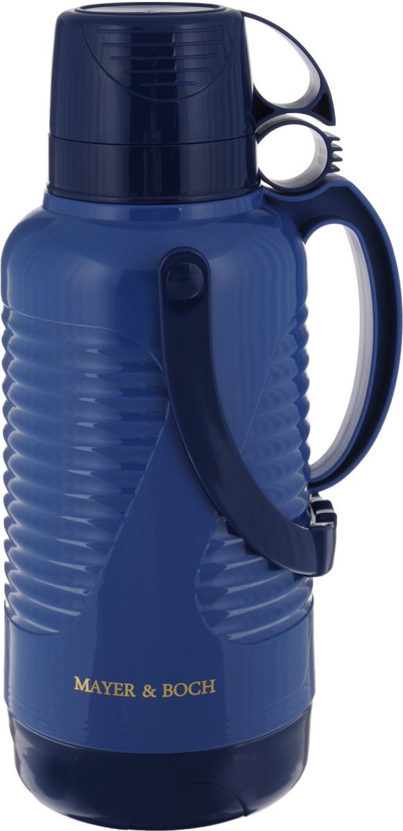 """Термос """"Mayer & Boch"""", с чашами, цвет: синий, темно-синий, 3,2 л"""