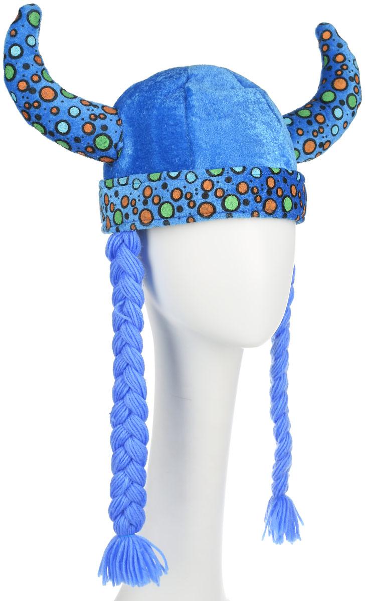 Partymania Шляпа карнавальная Викинг цвет голубой карнавальная шляпа sima land снежинка анимированная 333854