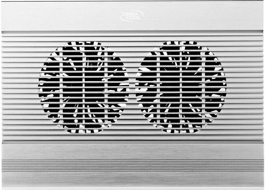 Подставка для ноутбука Deepcool N8, Silver Aluminum deepcool охлаждающая подставка для ноутбука deepcool n8 black dp n24n n8bk 17