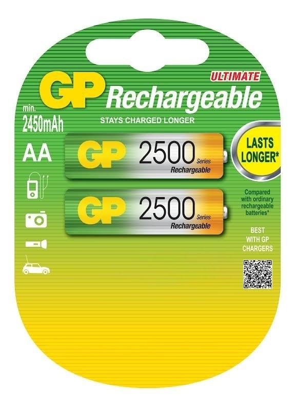 элементы питания gp аккумулятор gp 250aahc 2decrc4 Аккумулятор GP 250AAHC AA NiMH 2500 мАч, 2 шт