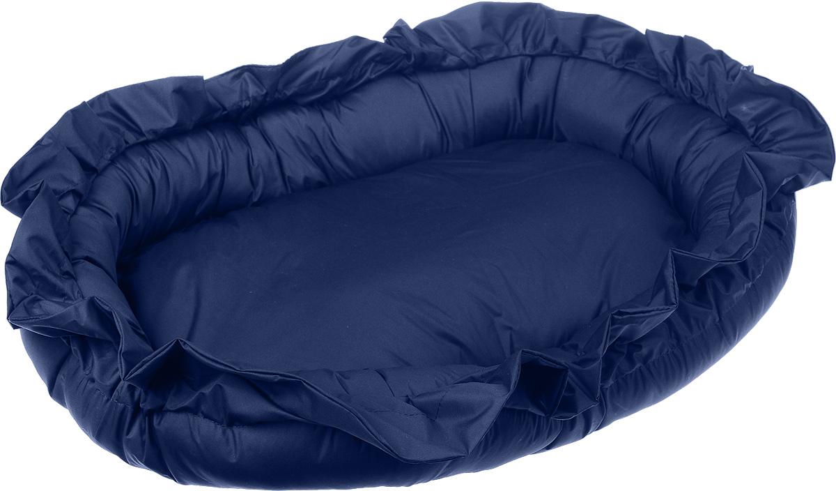 Лежак для животных ЗооМарк Самобранка, цвет: синий, 74 х 55 х 10 см лежак для животных зоомарк самобранка цвет синий 74 х 55 х 10 см