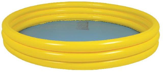 Бассейн надувной Jilong Plain Pool, детский, цвет: желтый, 157 х 157 х 25 см чехол pool cover на каркасные бассейны 258х179см jilong