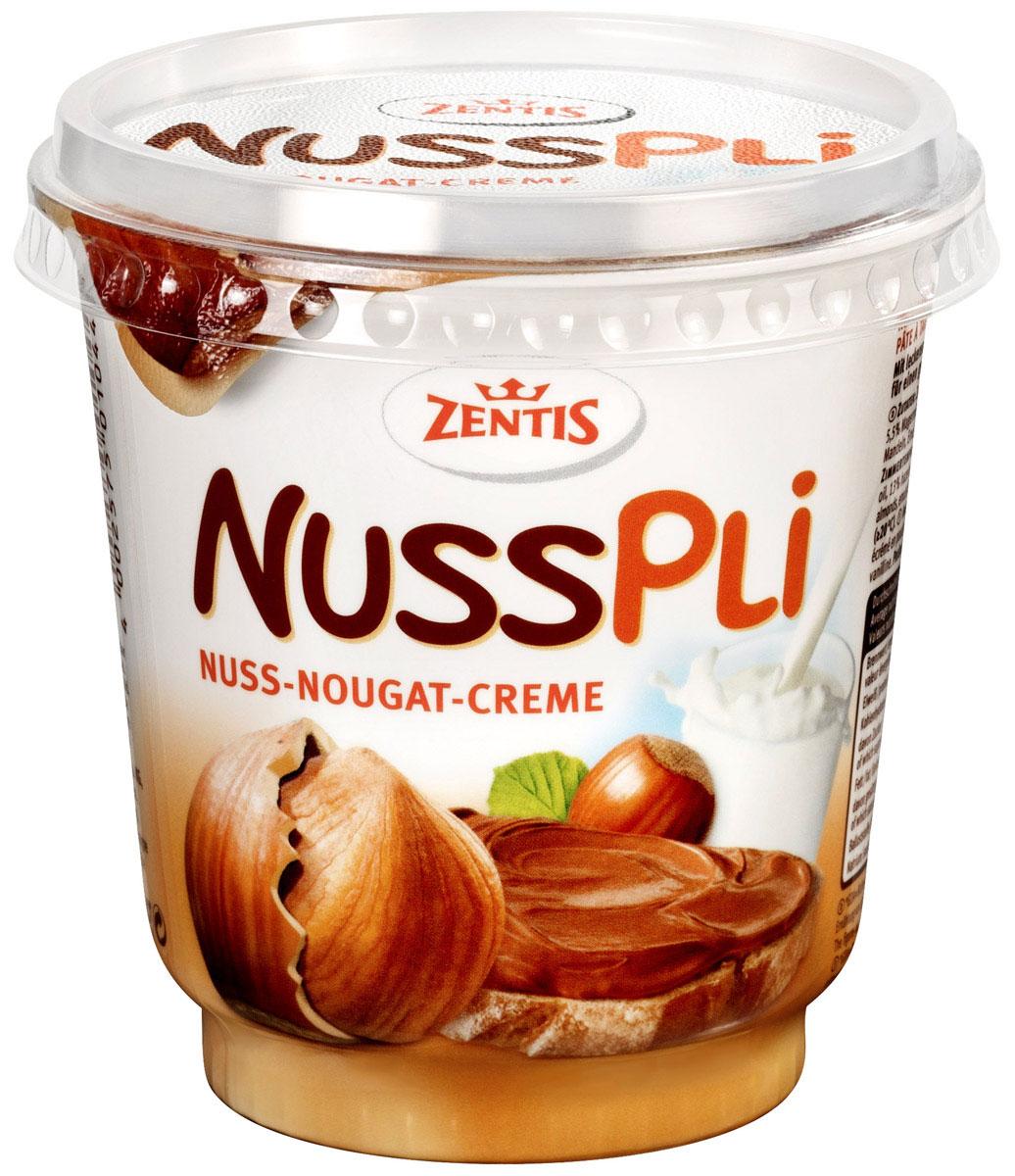Zentis Nusspli ореховая паста с добавлением какао, 400 гЦп 364099Zentis Nusspli - вкуснейшая шоколадная паста с лесным орехом и добавлением какао. Намажьте ее на свежий хлеб или при приготовлении сдобы и выпечки. Паста придаст любому блюду яркий ореховый вкус.