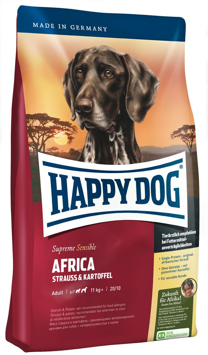 """Корм сухой Happy Dog """"Африка"""" для собак средних и крупных пород, со страусом и картофелем, 12,5 кг"""