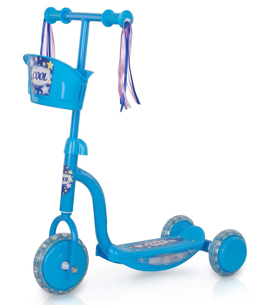 Самокат трехколесный Larsen Cool, цвет: голубой цена
