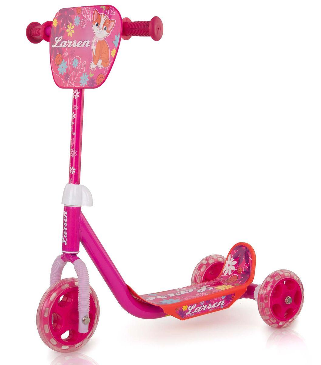Самокат Larsen Girl, цвет: розовый. GS-002A-RB цена