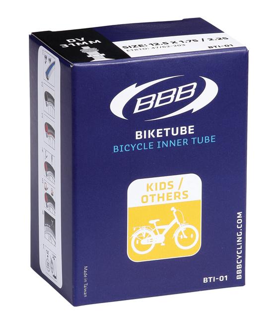Камера велосипедная BBB, 1/2 x 1,75 x 2-1/4 AV, 12. BTI-01 камера велосипедная bbb 27 5 2 10 2 35 fv 33mm защита от проколов велониппель bti 68