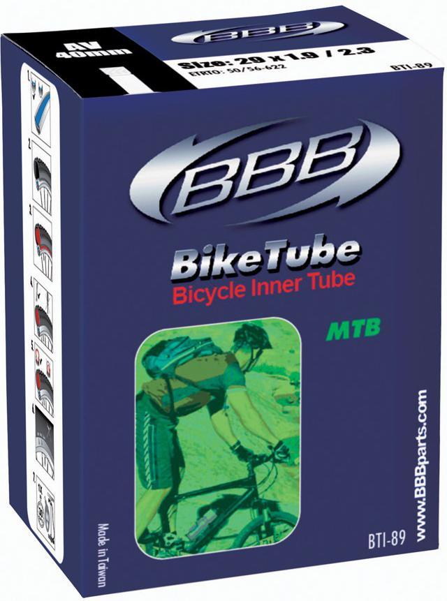 Камера велосипедная BBB, 1,9/2,3 AV 40 mm, 29. BTI-89 камера велосипедная bbb 27 5 2 10 2 35 fv 33mm защита от проколов велониппель bti 68
