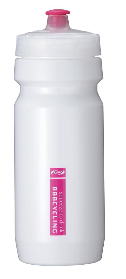 "Бутылка для воды BBB ""CompTank"", велосипедная, цвет: белый, пурпурный, 550 мл"
