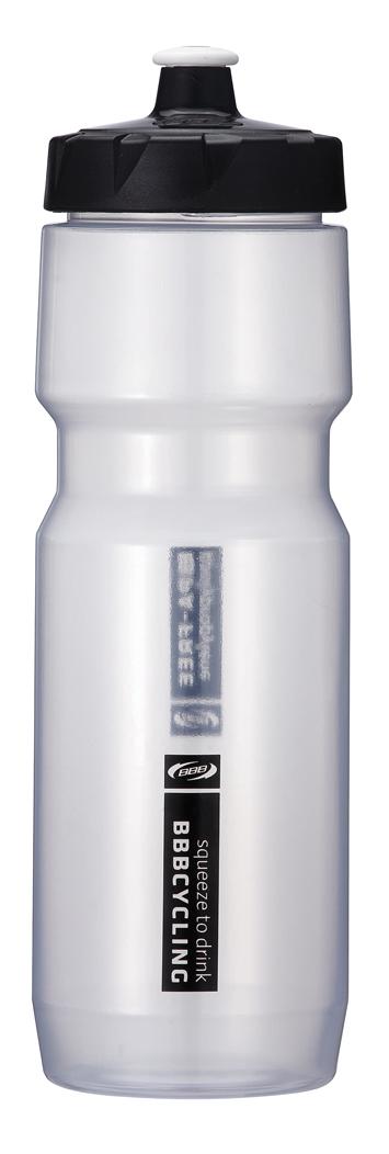 """Бутылка для воды BBB """"CompTank"""", велосипедная, цвет: прозрачный, черный, 750 мл"""