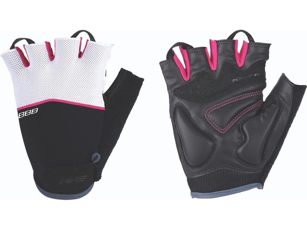 Перчатки велосипедные BBB Omnium, цвет: фуксия, белый, черный. BBW-47. Размер XL