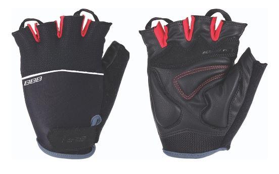 Перчатки велосипедные BBB Omnium, цвет: черный, красный. Размер S